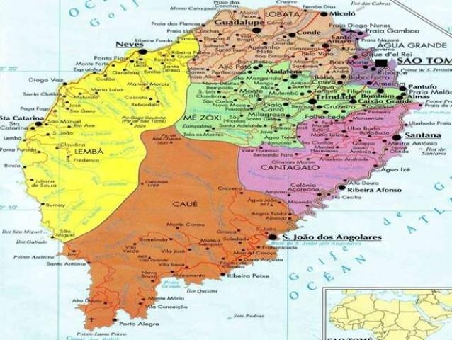 mapa de s tomé SÃO TOME E PRÍNCIPE ocupa 127ª posição entre 169 países no IDH  mapa de s tomé